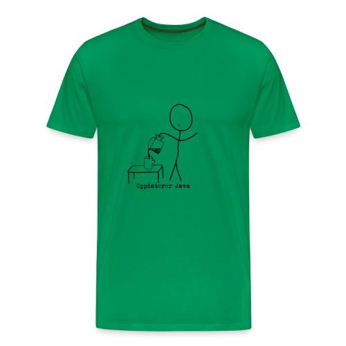 oppdaterer java png - Premium T-skjorte for menn
