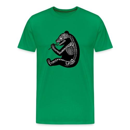 Panda-luuranko - Miesten premium t-paita