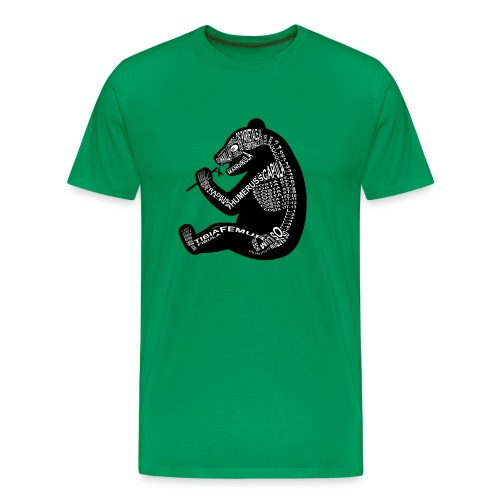 Panda skeleton - Men's Premium T-Shirt