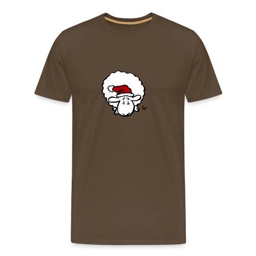 Santa Sheep (red) - Men's Premium T-Shirt