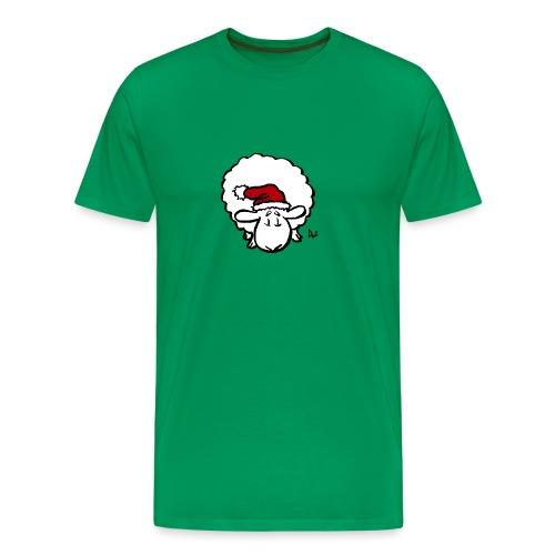 Santa Sheep (red) - T-shirt Premium Homme