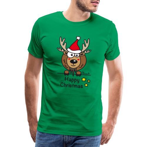 Renne Noël, Happy Christmas, Drôle, Humour, Santa - T-shirt Premium Homme