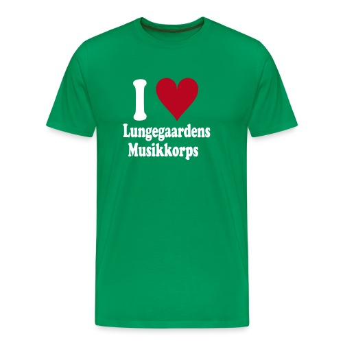 I love lungegaardeens - Premium T-skjorte for menn