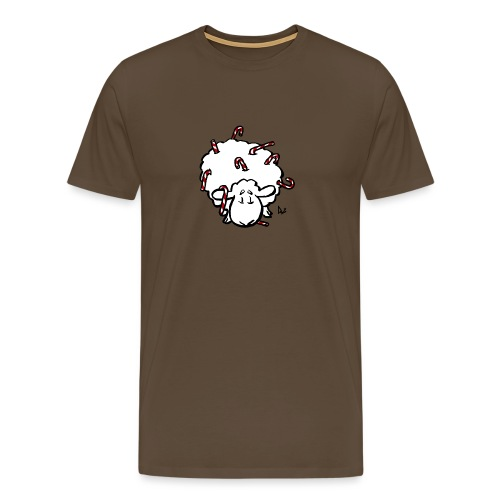 Candy Cane Sheep - Men's Premium T-Shirt