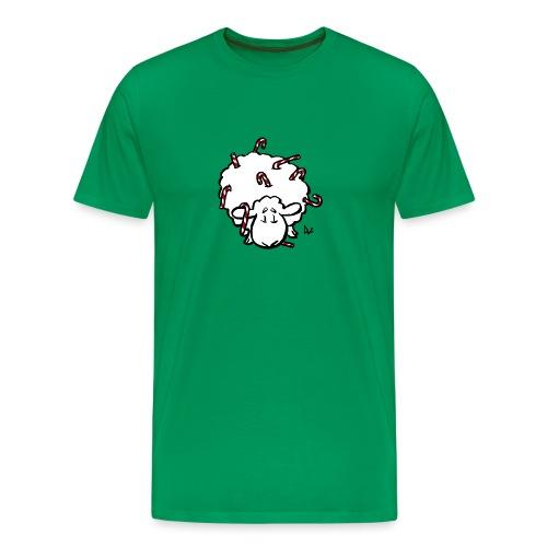 Candy Cane Sheep - Men's Premium T-Shirt