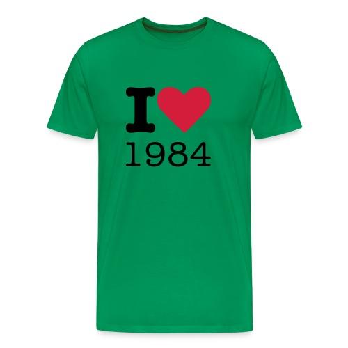 I Love 1984 - Mannen Premium T-shirt