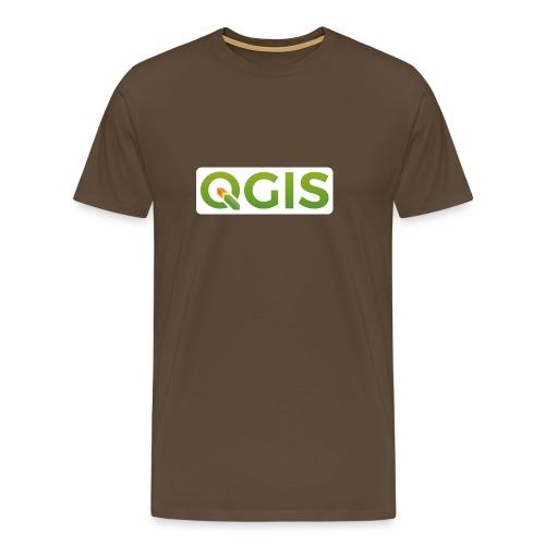 QGIS text white bg 600dpi - Men's Premium T-Shirt
