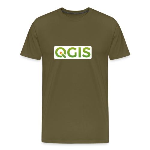 QGIS text logo (white) - Men's Premium T-Shirt