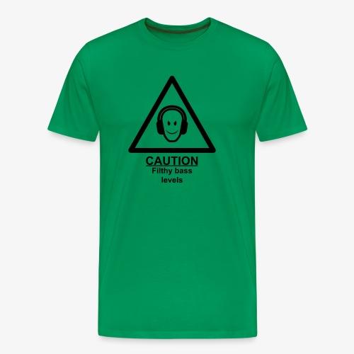 Caution Filthy Bass Logo - Men's Premium T-Shirt