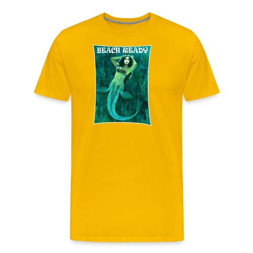 Vintage Pin-up Beach Ready Mermaid - Men's Premium T-Shirt
