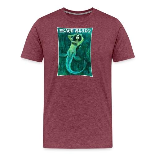 Vintage Pin-up Beach Ready Mermaid - Men's Premium T-Shirt
