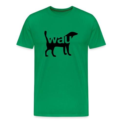 Wau einfarbig - Flex/Flock - Männer Premium T-Shirt