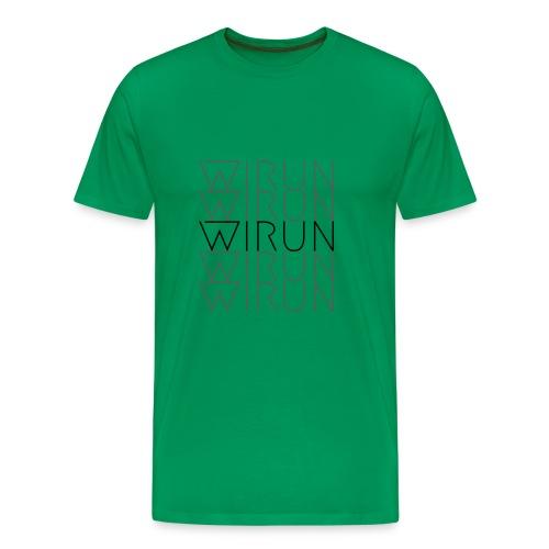WIRUN Rotterdam black logo - Mannen Premium T-shirt