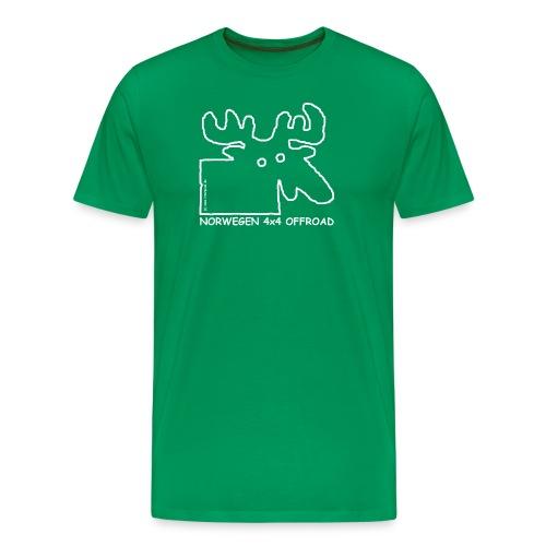 Norwegen outline white transparent - Männer Premium T-Shirt
