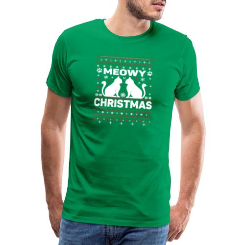 Meowy Christmas - Männer Premium T-Shirt