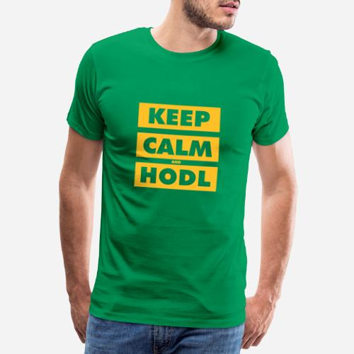 Keep Calm and Hodl blocks - Camiseta premium hombre