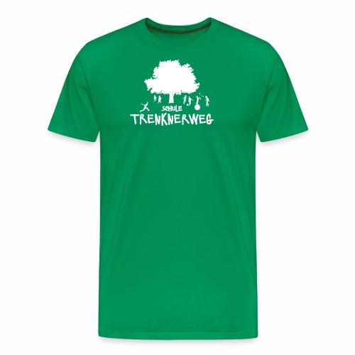 Weißes Logo: nur für grüne Textilien! - Männer Premium T-Shirt