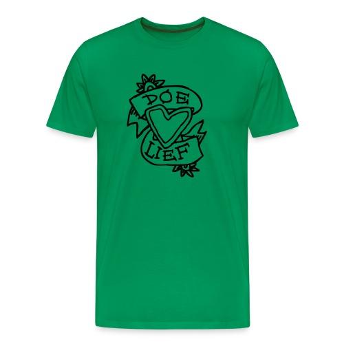 doe lief hart tattoo - Mannen Premium T-shirt