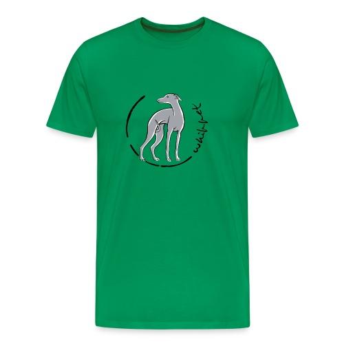 whippet trait bleu - T-shirt Premium Homme