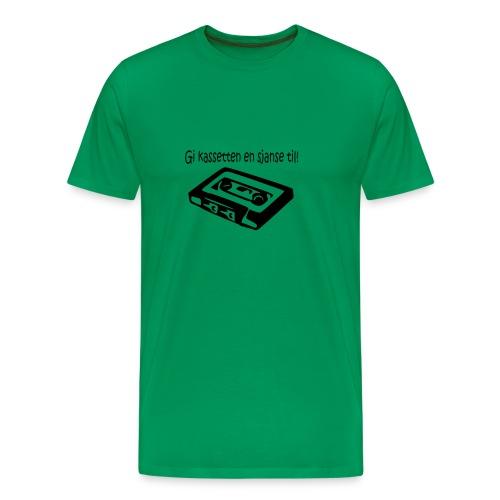 kassetten - Premium T-skjorte for menn