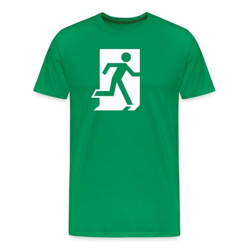 Hätäuloskäynti - Miesten premium t-paita
