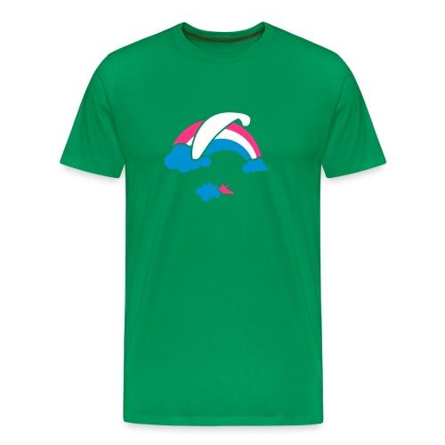 Rainbow & Clouds Paragliding - Men's Premium T-Shirt