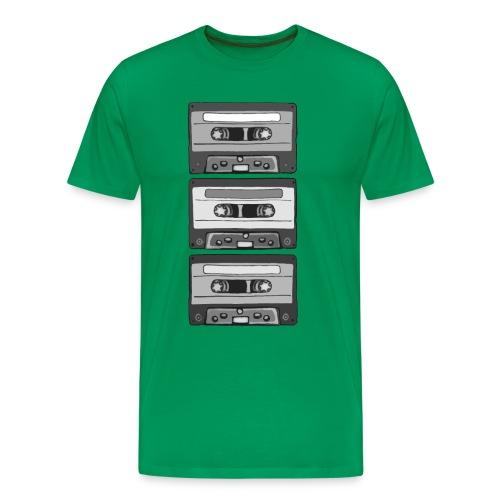 Colorless Cassettes - Premium-T-shirt herr