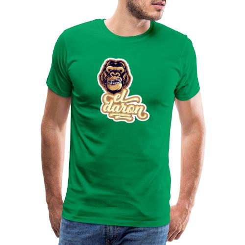 Smoking monkey Portrait Converted - Men's Premium T-Shirt