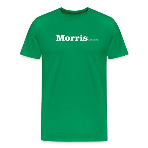 morris cymru white - Men's Premium T-Shirt