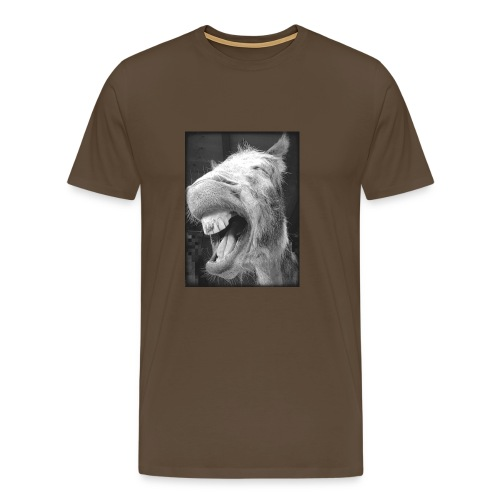 lachender Esel - Männer Premium T-Shirt