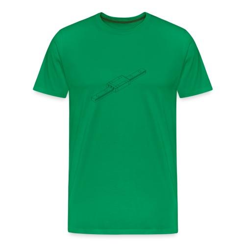 Rail and Block (no text). - Men's Premium T-Shirt