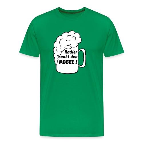 Radler senkt den Pegel! - Männer Premium T-Shirt