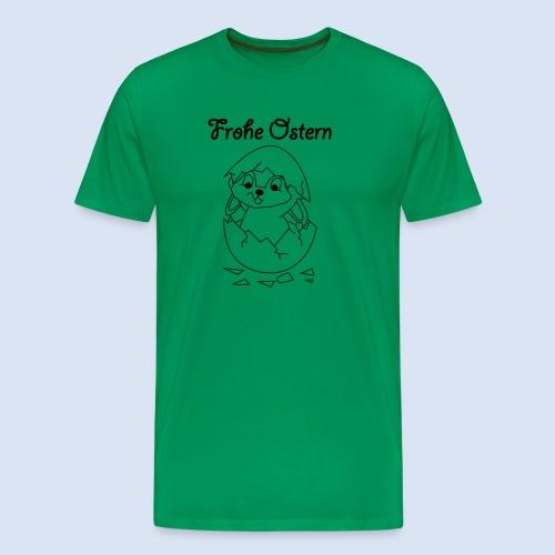 Hase im Ei - Osterhase - Männer Premium T-Shirt