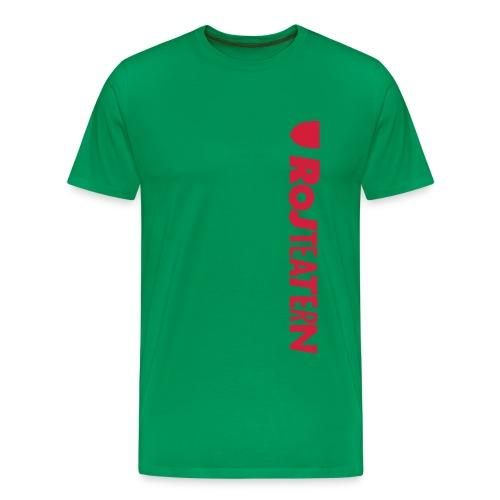RoJteatern_logo_SV_vertik - Premium-T-shirt herr
