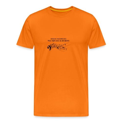 Hallo allemaal! - Mannen Premium T-shirt