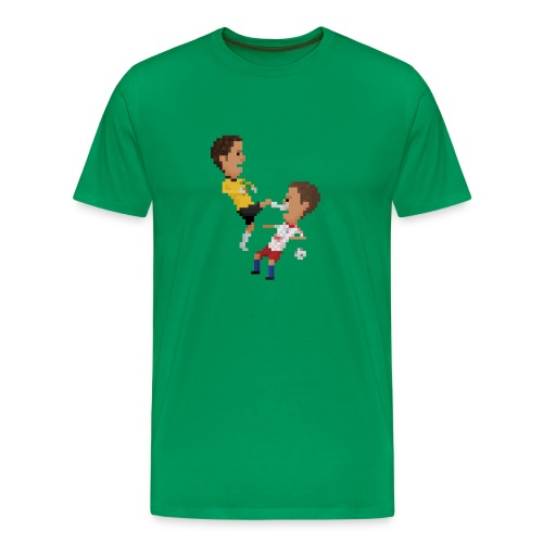 Kungfu goalkeeper from Bremen - Men's Premium T-Shirt