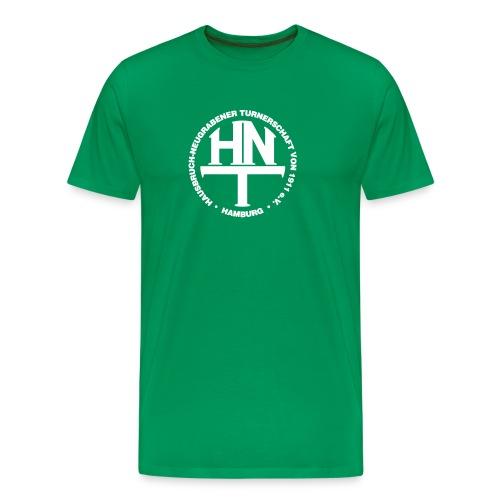 hnt logo vector weiss - Männer Premium T-Shirt
