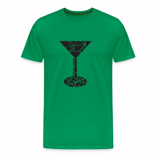 Martini Cocktail Glas - Männer Premium T-Shirt