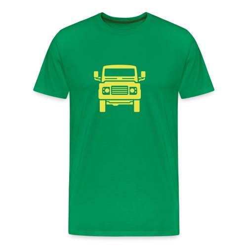 Landie Defender illustration - Autonaut.com - Men's Premium T-Shirt
