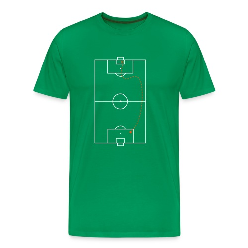 Schatkaart - Mannen Premium T-shirt