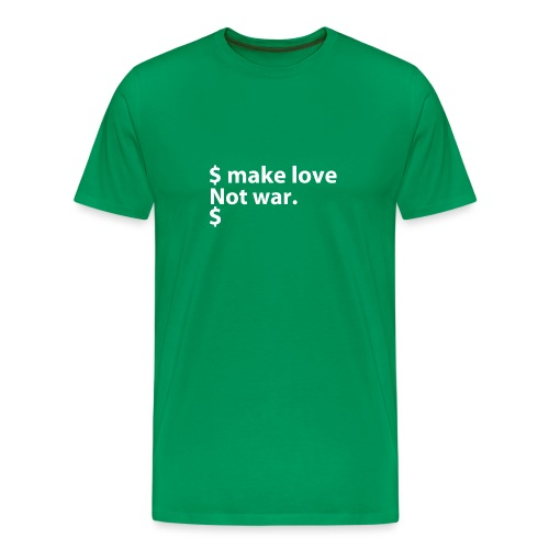 Make love not war linux - Men's Premium T-Shirt
