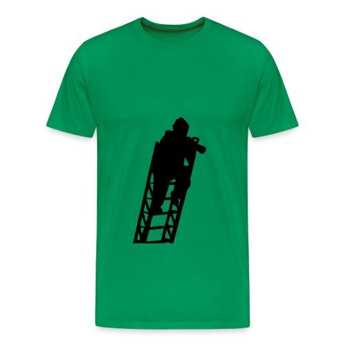 Un Sapeur Pompier sur échelle - T-shirt Premium Homme