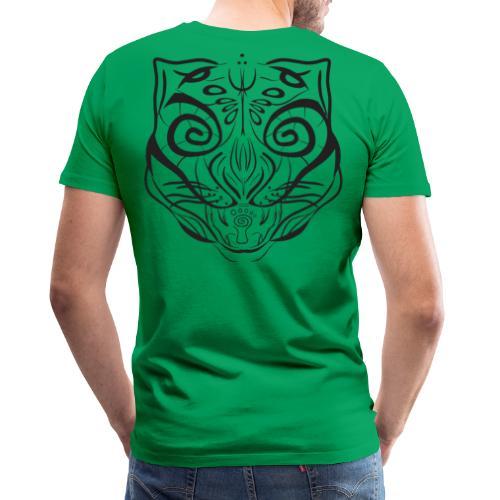 The Parvati Cat by Stringhedelic - Black - Men's Premium T-Shirt