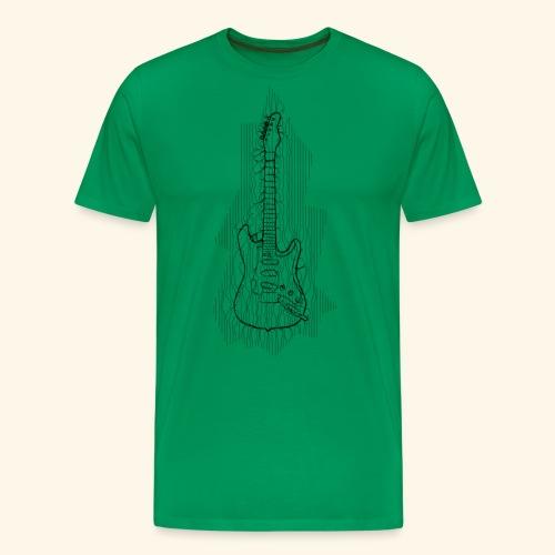 gitarre Linie - Männer Premium T-Shirt