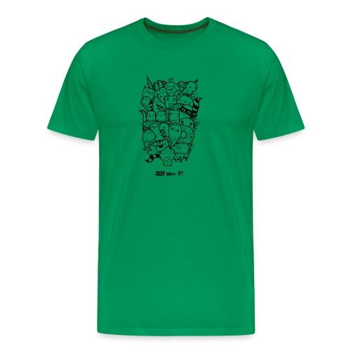Just Doodle it Black - Männer Premium T-Shirt
