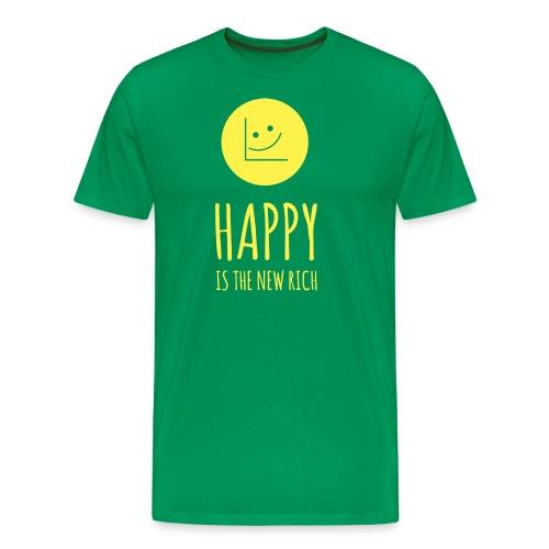 Happy is the new rich - Men's Premium T-Shirt