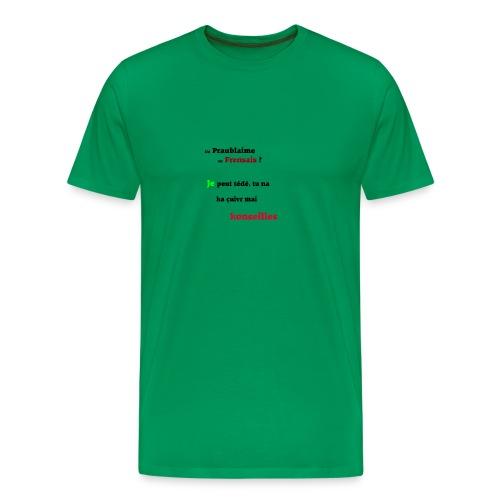 Probleme en français - T-shirt Premium Homme