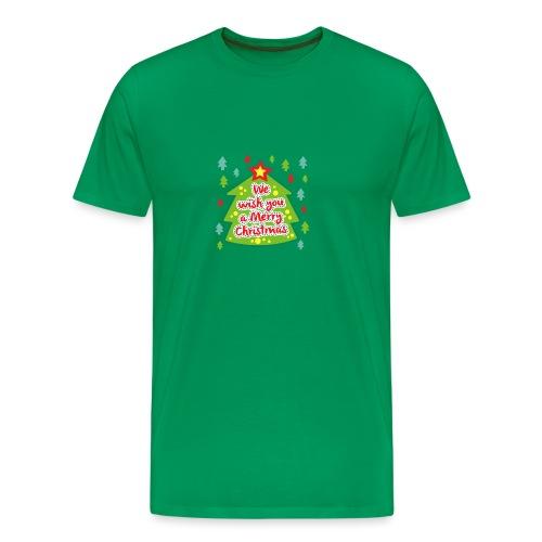 We wish you a Merry Christmas - Men's Premium T-Shirt