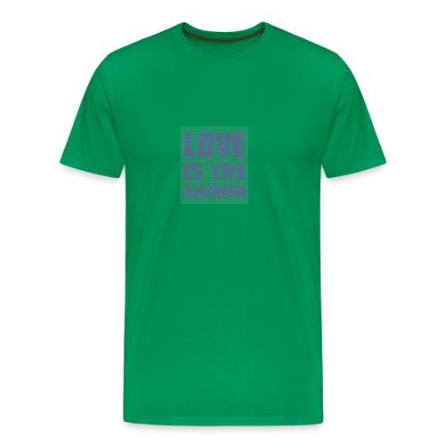 LOVE IS THE ANSWER - Maglietta Premium da uomo