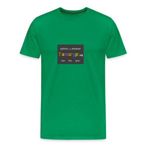 Transcrypt Logo - Mannen Premium T-shirt